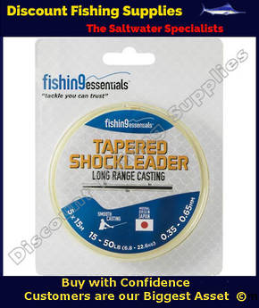 Fishing Essentials Tapered Leaders X 5 (15-50lb) Orange