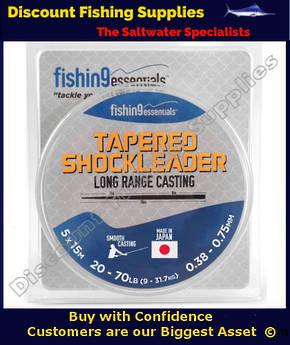 Fishing Essentials Tapered Leaders X 5 (20-70lb) Clear