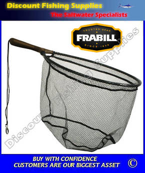 "Frabill TEARDROP TROUT NET 7.5"" FIXED RUBBER HANDLE (DIPPED)"