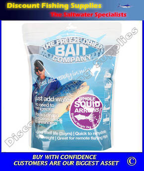 Freeze Dried Whole Squid Arrows Bait 300gr (Original Weight 2kg)