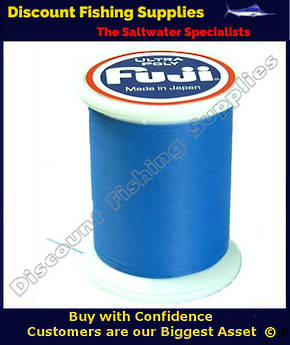 "Fuji Ultra Poly NCOP ""D"" Size Rod Binding Thread 100m Spool - Royal Blue"