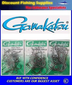 Gamakatsu Octopus/Circle Hook - 3/0, 4/0 or 5/0 Value Pack