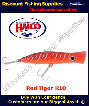 Halco Roosta Popper 135mm Red Tiger