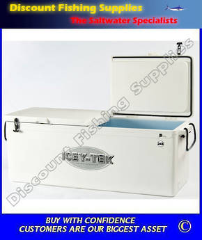 ICEY-TEK Chilly Bin 260ltre Long Style (Double/Lid) White