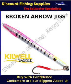 Kilwell Broken Arrow Jig 250gr - Disco Pink