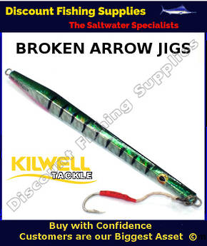 Kilwell Broken Arrow Jig 300gr - Green Mackerel