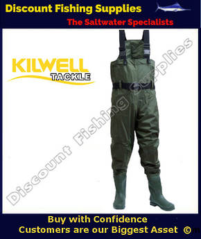 Kilwell Chest Wader - Olive - Cleat Sole Size 9