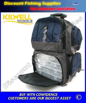 Kilwell Fishing Pack Tackle Bag 4 Box