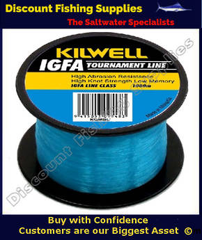 Kilwell IGFA Tournament Fishing Line 37kg X 1000m - Blue