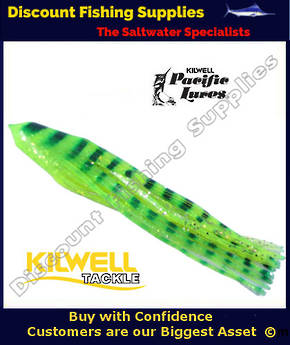 "Kilwell Pacific Lure Skirt - Green Barred 12"" No14"