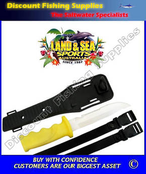 Land & Sea Frog 15cm Dive Knife with Sheath