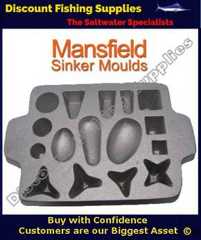 MANSFIELD SINKER MOULDS  Fishing Gear   Discount Fishing