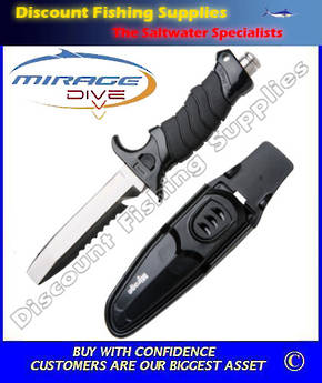Mirage Dive Knife - Samoa (Paua Scoop Knife)