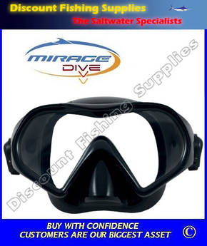 Mirage Super Nova Silicone Adult Dive Mask - Black