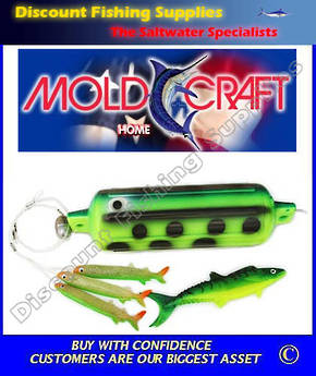 Mold Craft Hoo Bumper Marlin Teaser - Green Yellow