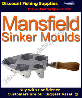 Sinker Mould - One Hole Boat wide 2 4 6 8 and 10oz