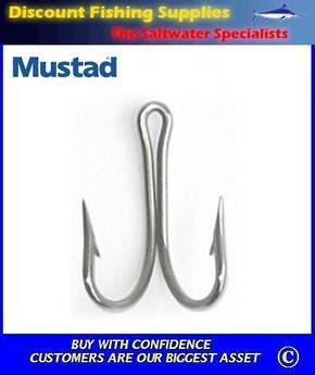 Mustad 7982 Double Hook Stainless Steel  7/0