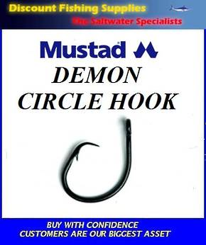 Mustad Demon Circle Hooks 4/0 to 6/0