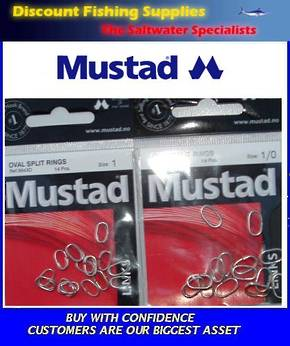 Mustad Oval Split Rings