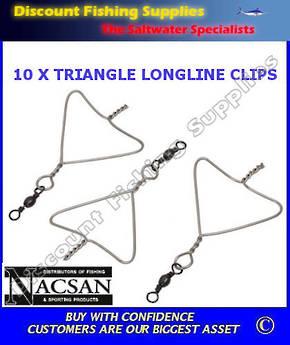 Clips - Setline Triangles X 10