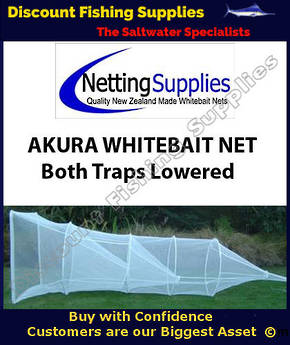 Akura 2 Trap Whitebait Sock Net - Both Traps Lowered - ULSTRON