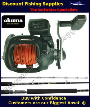 Okuma Magda 45DT-LL - X-Factor Trout Trolling Combo WITH LEADLINE