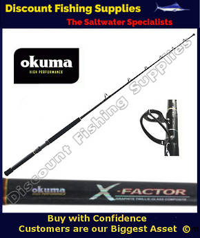 "Okuma X-Factor 37kg 5'8"" Game Rod with roller Tip"