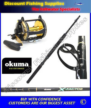 Okuma Solterra 50W II speed & X-Factor 24kg Stand Up Combo