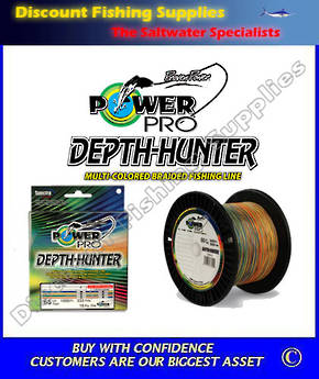 Power Pro Depth Hunter Multi Coloured Braid 50lb X 333yd