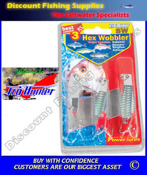 Pro Hunter Hex Wobbler 3 Spinner Pack