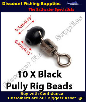 Pully Rig Swivel Beads Black 5mm