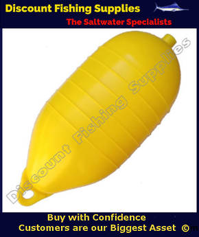 "QE PVC Cray Float 11"" 6 Rib Low Drag Yellow"