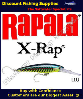 Rapala X-Rap Magnum 30 16cm - SINGLE HOOK Lime Light UV