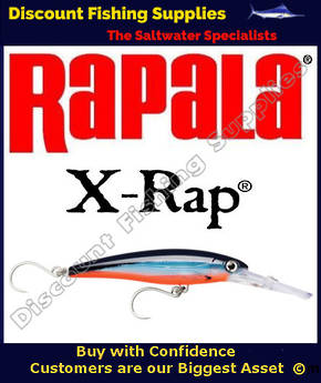 Rapala X-Rap Magnum 30 16cm - SINGLE HOOK Blue Fusilier UV