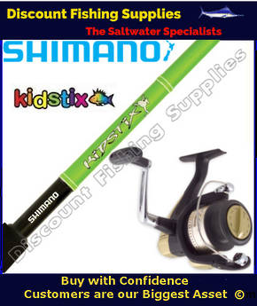 Shimano KidStix / Hyperloop 4000 Kids Combo - Frog 5ft