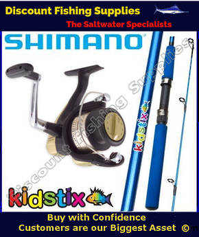 Shimano KidStix / Hyperloop 4000 Kids Combo - Blue 5ft
