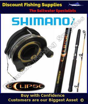 Shimano Moocher Eclipse Harling/Trolling Combo With Leadline