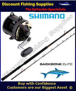 Shimano TLD25 / Backbone Elite 24kg LBG 8' 2pc Combo