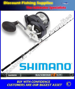 Shimano Torium 16HGA Backbone Elite 24kg Jigging Combo