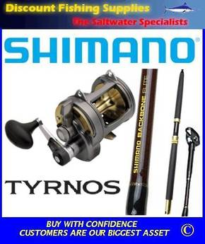 Shimano Tyrnos TYR 50 LRS 2speed / Backbone Elite 24kg Combo