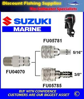 "Suzuki large male tank outlet 1/4"" NPT. Scepter/Moeller brand (FU04070)"