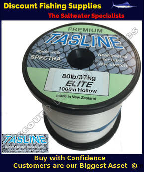 Tasline Elite Hollow Braid 80lb X 1000m