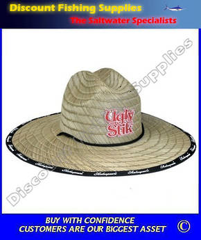 Ugly Stik Wide Brim ADULT Straw Hat
