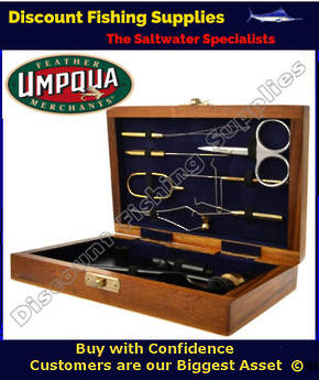 Umpqua Fly Tying Tool Kit (wooden case)
