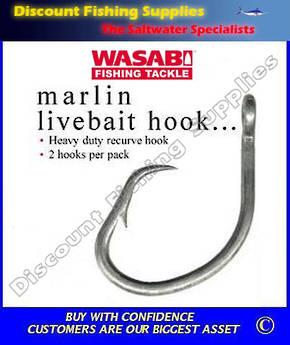 Wasabi Marlin Livebait Hooks X 2