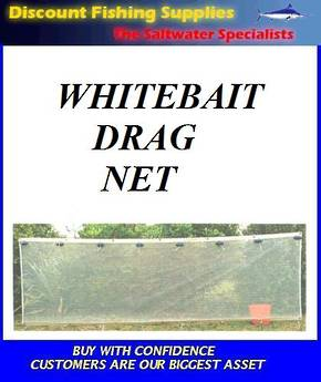 Whitebait Drag Net (KiwiMesh) GREY MESH