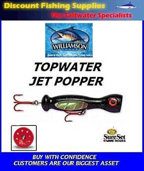 "Williamson Jet Popper - 7"" Black / Purple"