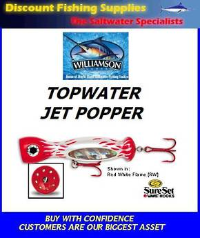 "Williamson Jet Popper - 5"" Red/White"