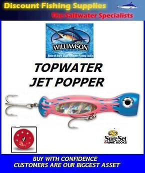 "Williamson Jet Popper - 5"" Pink Blue Flame"