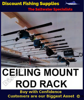 Wooden Rod Rack - Roof Mounted - For 6 Rods